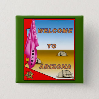 Arizona Welcomes Obama 2 Inch Square Button