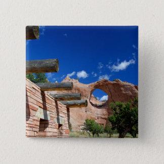 Arizona, Window Rock. Capital of the Navajo 2 Inch Square Button