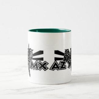 Arizona Young Timers Logo On 11oz GreenTwoTone Mug