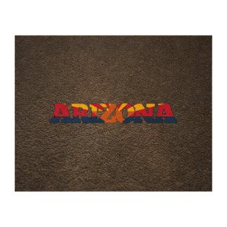 Arizonan name and flag queork photo print