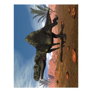 Arizonasaurus dinosaur in the desert letterhead