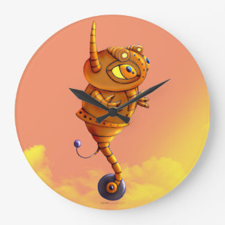 ARJA ROBOT CARTOON CLOCK LARGE ROUND