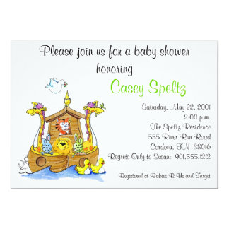 Ark Baby Shower Invitation