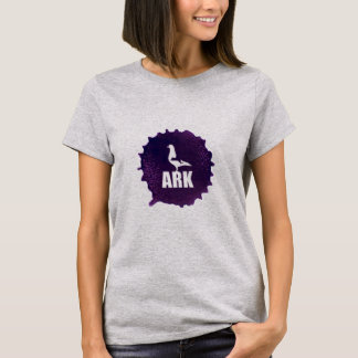 ARK Womens T-Shirt (White w Full Color Logo)