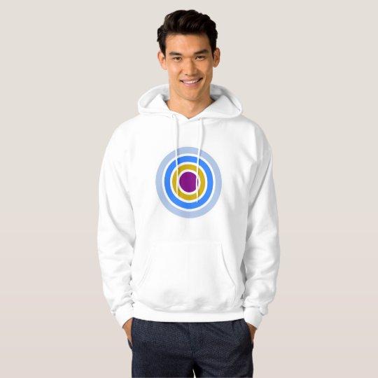 Arkadia / Men's Basic Hooded Sweatshirt, White Hoodie