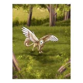 Arkaen - Barn Owl Gryphon Letterhead Design