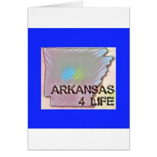 """""""Arkansas 4 Life"""" State Map Pride Design Card"""