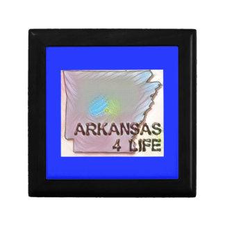 """Arkansas 4 Life"" State Map Pride Design Gift Box"