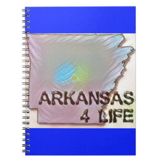 """Arkansas 4 Life"" State Map Pride Design Notebook"