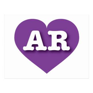 Arkansas AR purple heart Postcard