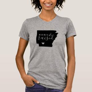 Arkansas Born and Raised State Tee