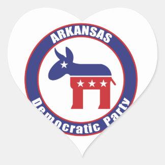 Arkansas Democratic Party Heart Stickers