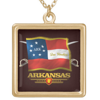 Arkansas Deo Vindice Gold Plated Necklace
