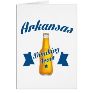 Arkansas Drinking team Card