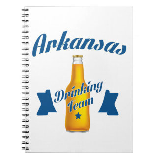 Arkansas Drinking team Spiral Notebook