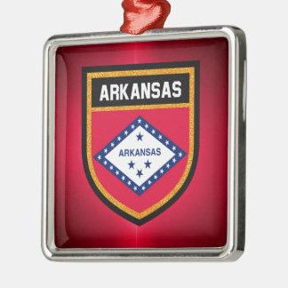 Arkansas Flag Metal Ornament