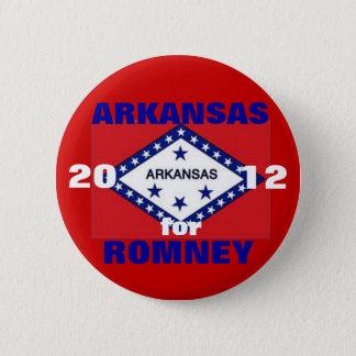 Arkansas for Romney 2012 2 Inch Round Button