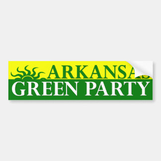 Arkansas Green Party Bumper Sticker
