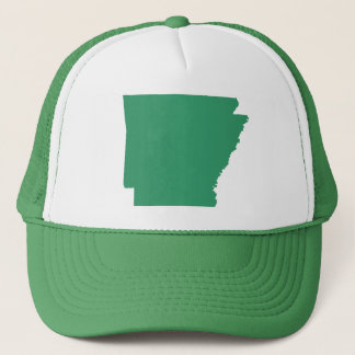Arkansas Green State Snap Back Mesh Trucker Hat