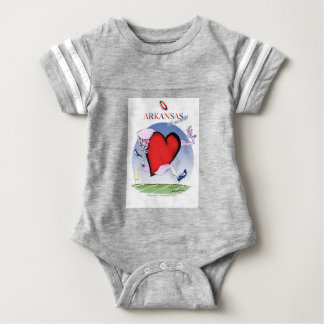 arkansas head heart, tony fernandes baby bodysuit