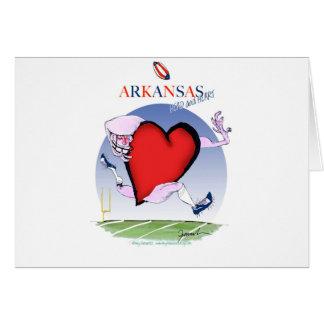 arkansas head heart, tony fernandes card