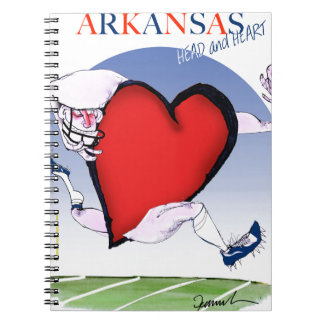 arkansas head heart, tony fernandes notebook