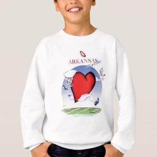 arkansas head heart, tony fernandes sweatshirt