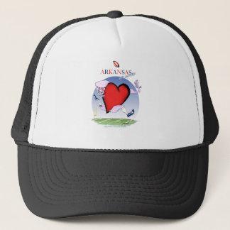 arkansas head heart, tony fernandes trucker hat