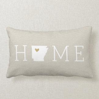 Arkansas Heart Home State Throw Pillow