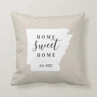 Arkansas Home Sweet Home State Throw Pillow