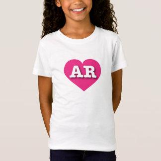 Arkansas Hot Pink Heart - Big Love T-Shirt