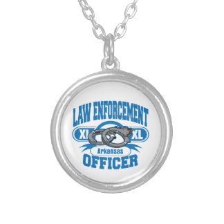 Arkansas Law Enforcement Officer Handcuffs Silver Plated Necklace