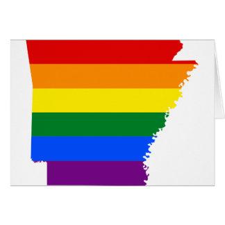 Arkansas LGBT Flag Map Card
