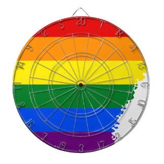 Arkansas LGBT Flag Map Dartboard