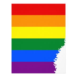Arkansas LGBT Flag Map Letterhead