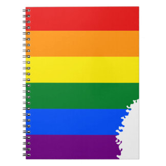 Arkansas LGBT Flag Map Notebooks