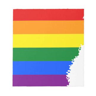 Arkansas LGBT Flag Map Notepad