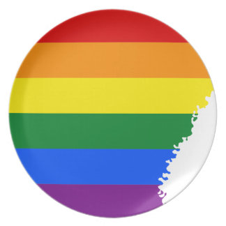 Arkansas LGBT Flag Map Plate