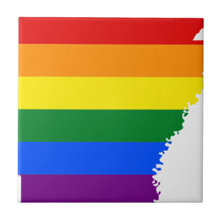 Arkansas LGBT Flag Map Tile