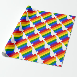 Arkansas LGBT Flag Map Wrapping Paper