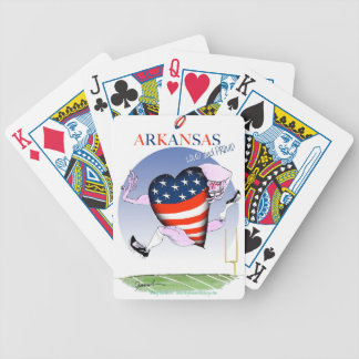 arkansas loud and proud, tony fernandes bicycle playing cards