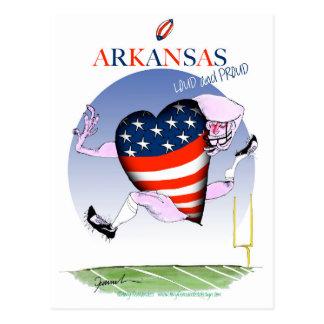 arkansas loud and proud, tony fernandes postcard
