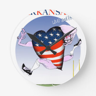 arkansas loud and proud, tony fernandes round clock