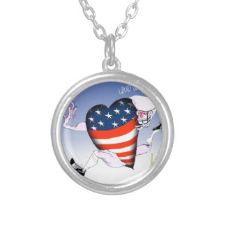 arkansas loud and proud, tony fernandes silver plated necklace