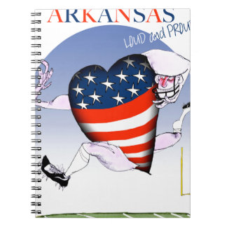 arkansas loud and proud, tony fernandes spiral notebook