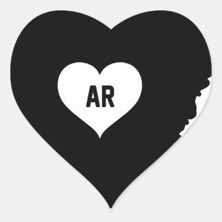 Arkansas Love Heart Sticker