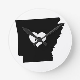 Arkansas Love Round Clock
