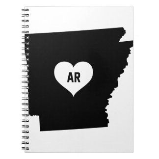 Arkansas Love Spiral Notebook
