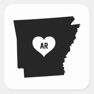 Arkansas Love Square Sticker