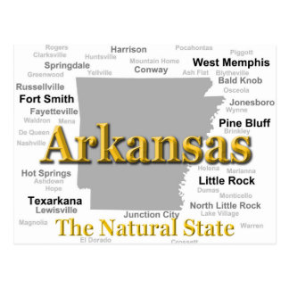 Arkansas Map Silhouette Postcard